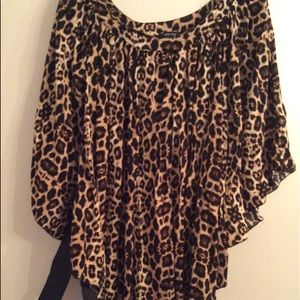 3X Animal Print Top by Paper Tee